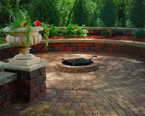 firepit with pavers