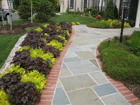Simple Front Yard Landscaping With Porch