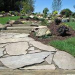 tiered flagstone pathway