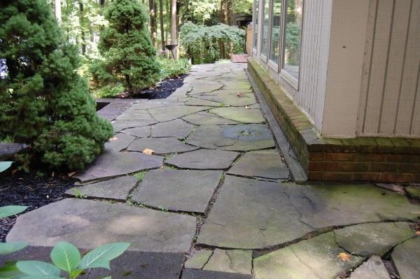 how to build a flagstone walkway