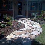 natural flagstone path