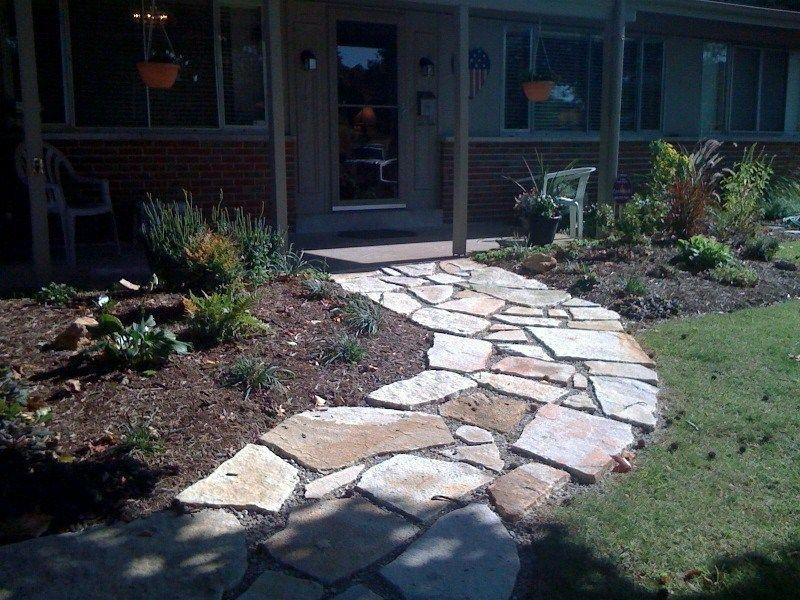 Granite Stone Pathways : Flagstone walkway gallery green acre sod tulsa farm