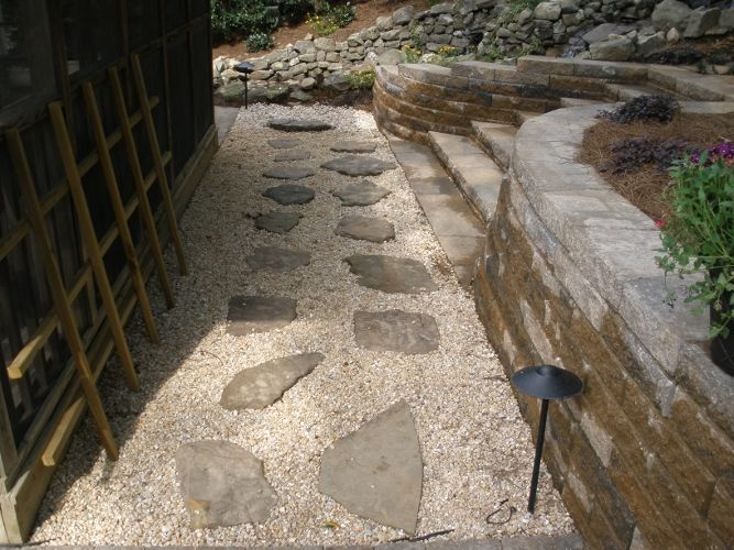 Flagstone Walkway Gallery Green Acre Sod Tulsa Sod Farm
