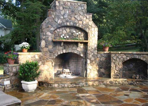 Fireplace Natural Stone natural stone fireplace gallery: green acre sod | tulsa sod farm