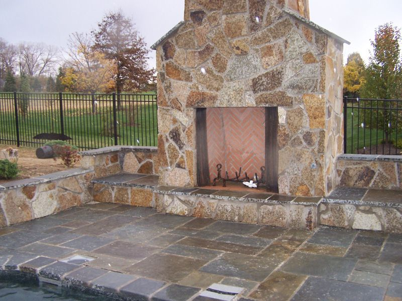 Popular Natural Stone Fireplace Gallery: Green Acre Sod | Tulsa Sod Farm CD37
