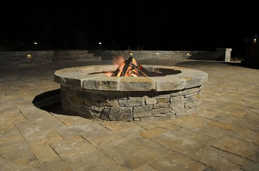 Natural Stone Fireplace Gallery Green Acre Sod Tulsa