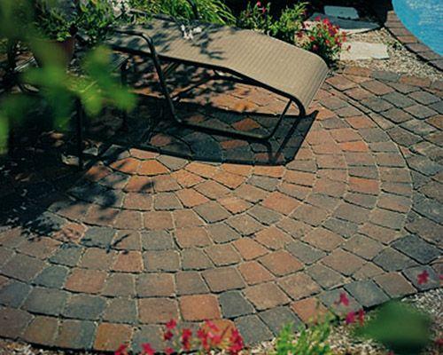 circular patterned pavers