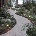 lit paver path