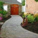 paver path in garden