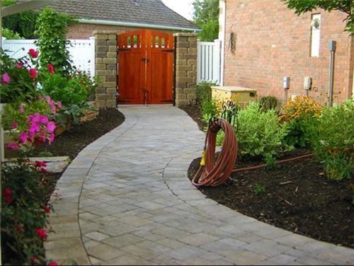 ... Paver Path In Garden ...