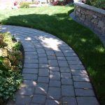 paver path and retaining wall