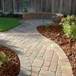 paver path leading to seating