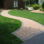 two toned paver path
