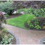 path of pavers in garden
